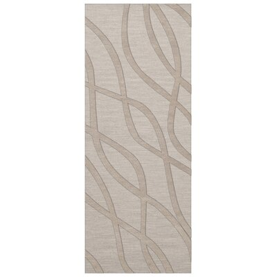 Dover Tufted Wool Putty Area Rug Rug Size: Runner 26 x 8