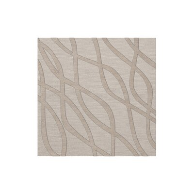 Dover Tufted Wool Putty Area Rug Rug Size: Square 10