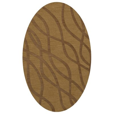 Dover Gold Dust Area Rug Rug Size: Oval 12 x 18