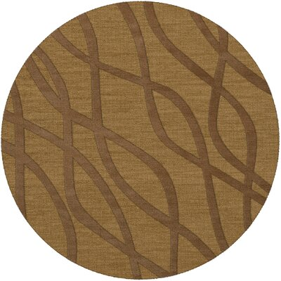 Dover Gold Dust Area Rug Rug Size: Round 4