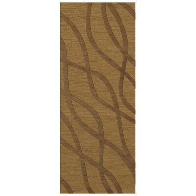 Dover Gold Dust Area Rug Rug Size: Runner 26 x 10