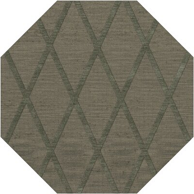 Dover Tufted Wool Aloe Area Rug Rug Size: Octagon 4