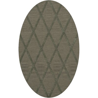 Dover Tufted Wool Aloe Area Rug Rug Size: Oval 3 x 5