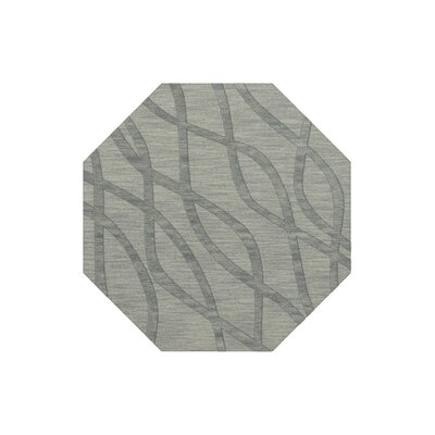 Dover Tufted Wool Sea Glass Area Rug Rug Size: Octagon 4