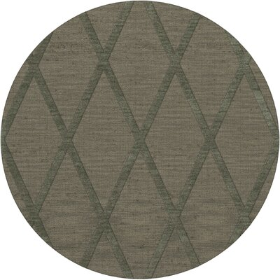 Dover Tufted Wool Aloe Area Rug Rug Size: Round 4