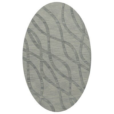 Dover Tufted Wool Sea Glass Area Rug Rug Size: Oval 5 x 8