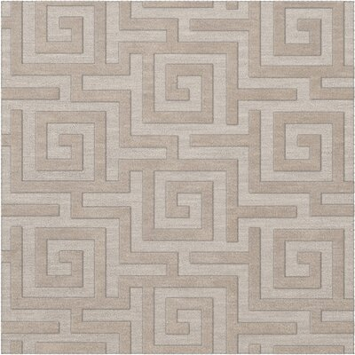Dover Tufted Wool Putty Area Rug Rug Size: Square 6