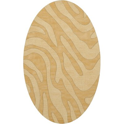 Dover Tufted Wool Lemon Ice Area Rug Rug Size: Oval 4 x 6
