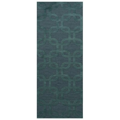 Dover Teal Area Rug Rug Size: Runner 26 x 10