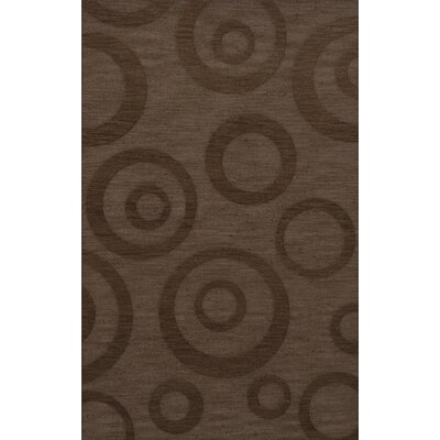 Dover Tufted Wool Mocha Area Rug Rug Size: Rectangle 4 x 6