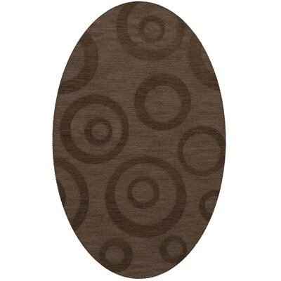 Dover Tufted Wool Mocha Area Rug Rug Size: Oval 5' x 8'