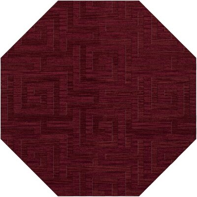 Dover Tufted Wool Rich Red Area Rug Rug Size: Octagon 6