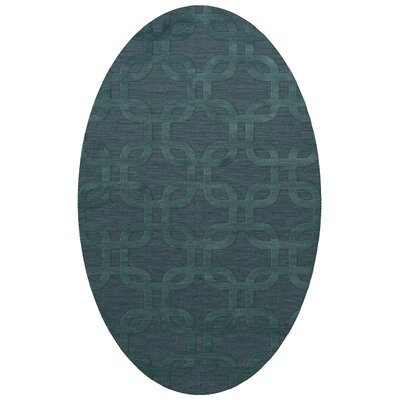 Dover Teal Area Rug Rug Size: Oval 12 x 15