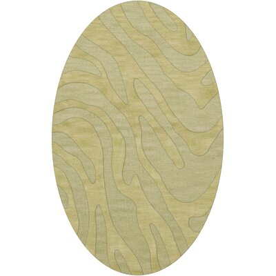 Dover Tufted Wool Mint Area Rug Rug Size: Oval 4 x 6