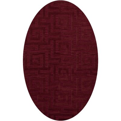Dover Rich Red Area Rug Rug Size: Oval 10 x 14