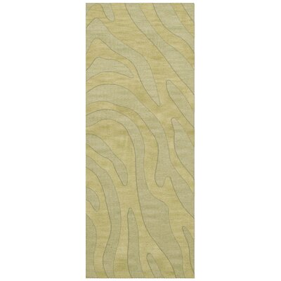 Dover Tufted Wool Mint Area Rug Rug Size: Runner 26 x 8
