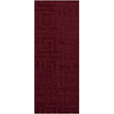Dover Tufted Wool Rich Red Area Rug Rug Size: Runner 26 x 10
