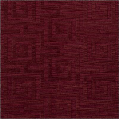 Dover Tufted Wool Rich Red Area Rug Rug Size: Square 12