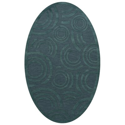 Dover Tufted Wool Teal Area Rug Rug Size: Oval 3 x 5