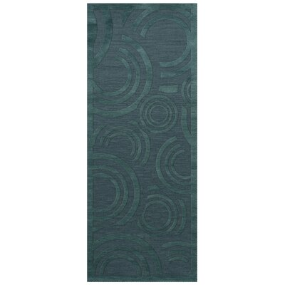 Dover Tufted Wool Teal Area Rug Rug Size: Runner 26 x 8