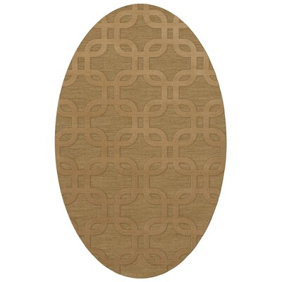 Dover Wheat Area Rug Rug Size: Oval 6 x 9