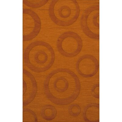 Dover Tufted Wool Orange Area Rug Rug Size: Rectangle 9 x 12