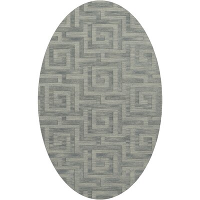 Dover Tufted Wool Sea Glass Area Rug Rug Size: Oval 3 x 5