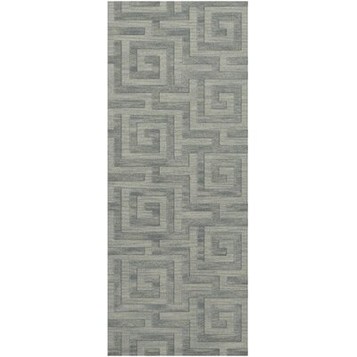 Dover Tufted Wool Sea Glass Area Rug Rug Size: Runner 26 x 12