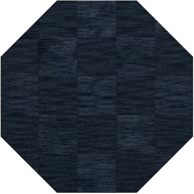 Dover Tufted Wool Navy Area Rug Rug Size: Octagon 6