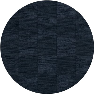 Dover Tufted Wool Navy Area Rug Rug Size: Round 12
