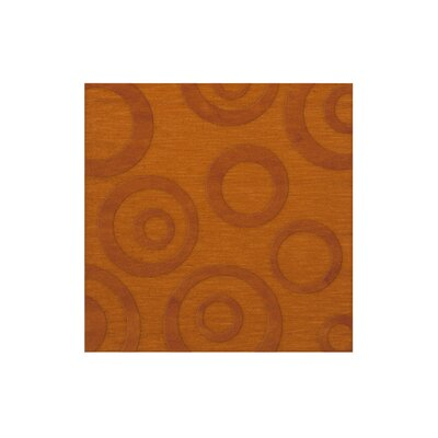 Dover Tufted Wool Orange Area Rug Rug Size: Square 4