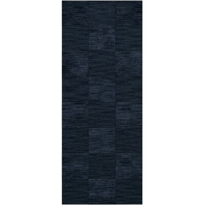Dover Tufted Wool Navy Area Rug Rug Size: Runner 26 x 10