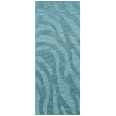 Dover Tufted Wool Peacock Area Rug Rug Size: Runner 26 x 8