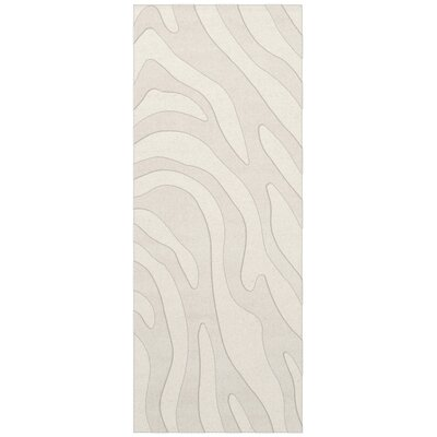 Dover Tufted Wool Snow Area Rug Rug Size: Runner 26 x 10