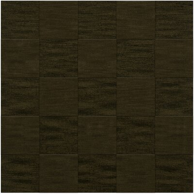 Dover Tufted Wool Olive Area Rug Rug Size: Square 6