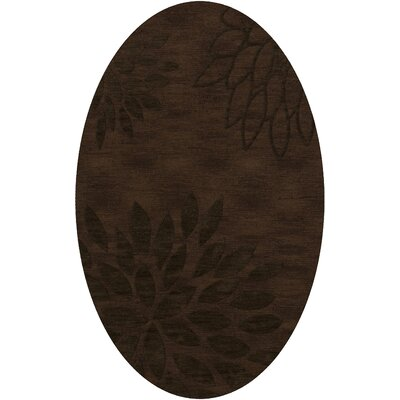 Bao Fudge Area Rug Rug Size: Oval 12 x 18