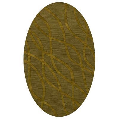 Dover Tufted Wool Avocado Area Rug Rug Size: Oval 10 x 14