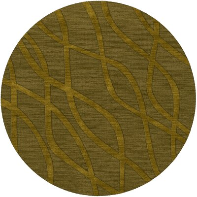 Dover Tufted Wool Avocado Area Rug Rug Size: Round 10