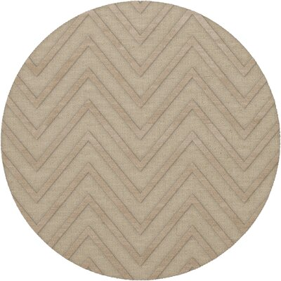 Dover Linen Area Rug Rug Size: Round 6