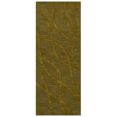 Dover Tufted Wool Avocado Area Rug Rug Size: Runner 26 x 8