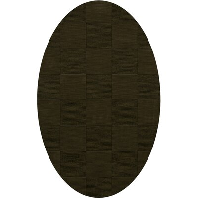 Dover Tufted Wool Olive Area Rug Rug Size: Oval 9 x 12