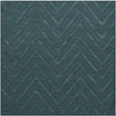 Dover Tufted Wool Teal Area Rug Rug Size: Square 12