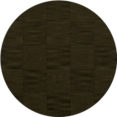 Dover Tufted Wool Olive Area Rug Rug Size: Round 4