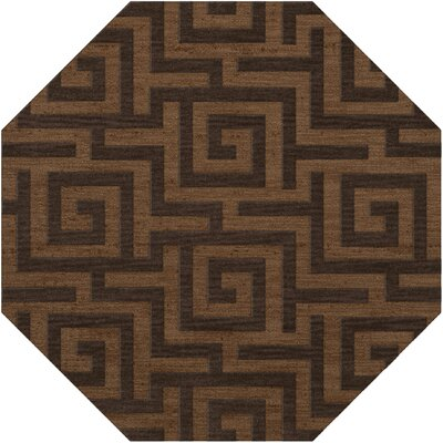Dover Tufted Wool Caramel Area Rug Rug Size: Octagon 4