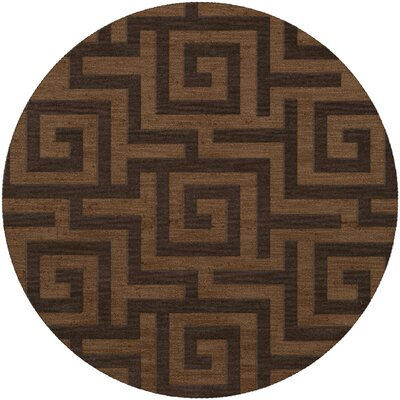 Dover Caramel Area Rug Rug Size: Round 4'