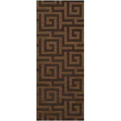 Dover Tufted Wool Caramel Area Rug Rug Size: Runner 26 x 12