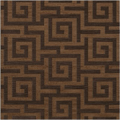 Dover Tufted Wool Caramel Area Rug Rug Size: Square 12