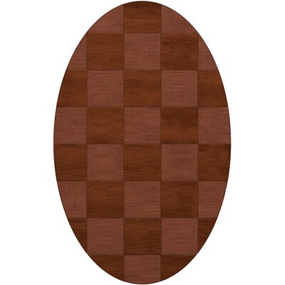 Dover Tufted Wool Spice Area Rug Rug Size: Oval 6 x 9