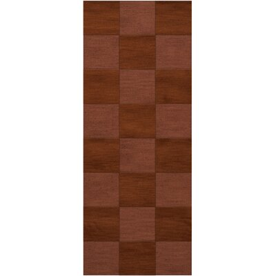 Dover Tufted Wool Spice Area Rug Rug Size: Runner 26 x 12