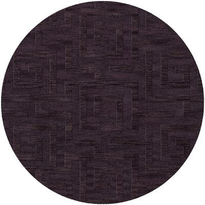 Dover Grape Ice Area Rug Rug Size: Round 4